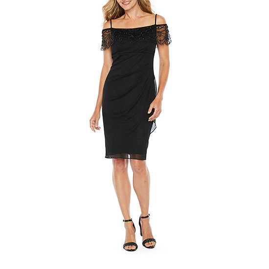 DJ Jaz Short Sleeve Embellished Sheath Dress