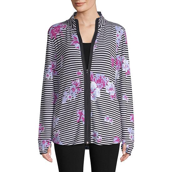 St. John's Bay Active Zip Front Jacket - Tall