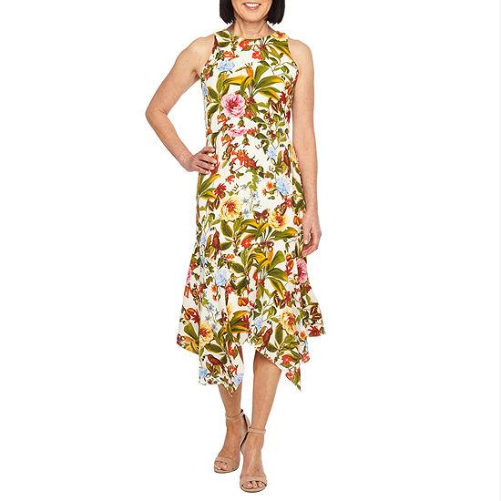 Liz Claiborne Sleeveless Floral Sheath Dress