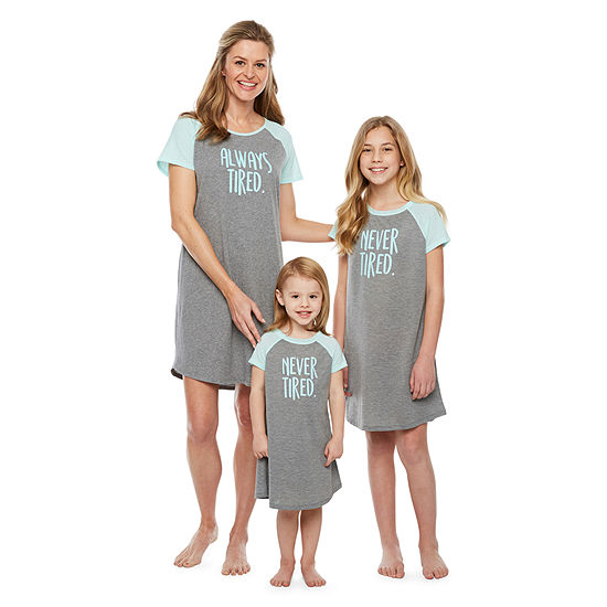 83517e61e2c7 City Streets Mommy and Me Always Tired - Nightshirt - JCPenney