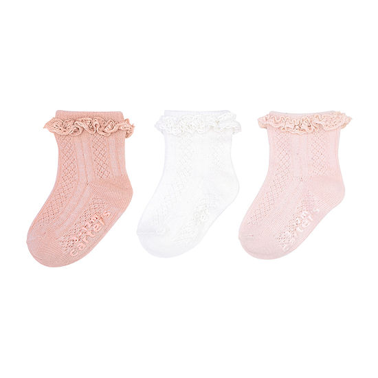 Carter's Baby Girls 3 Pair Crew Socks