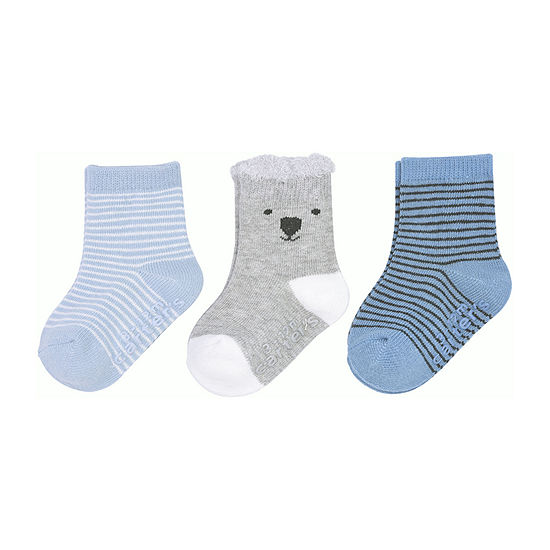 Carter's Baby Boys 3 Pair Crew Socks