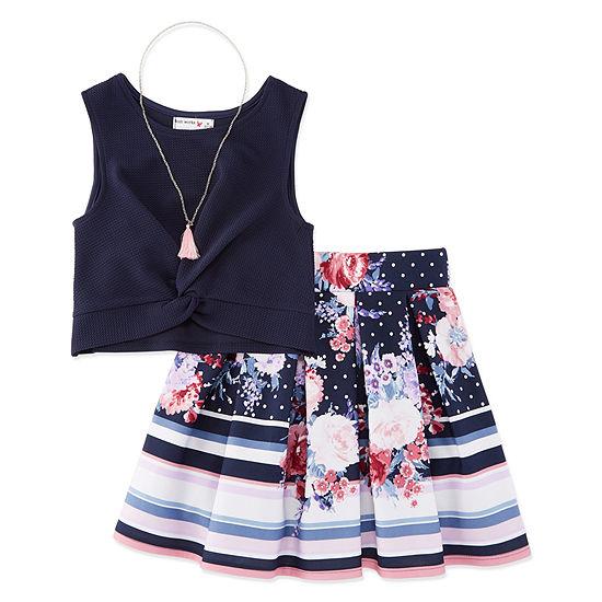 Knit Works Sleeveless Dress Set Girls