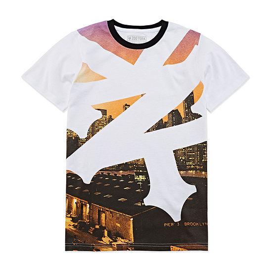 Zoo York Boys Crew Neck Short Sleeve Graphic T-Shirt Big Kid Husky
