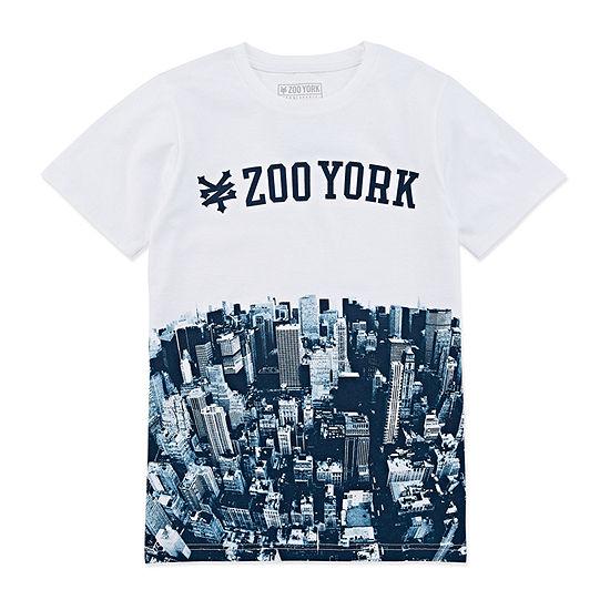 Zoo York Boys Crew Neck Short Sleeve Graphic T-Shirt - Big Kid Husky