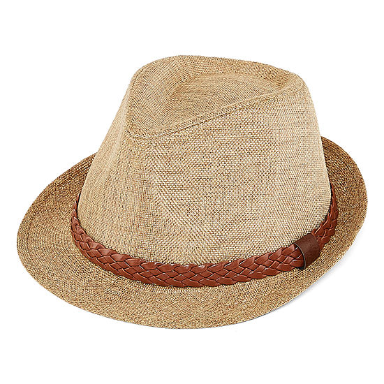 St. John's Bay™ Fedora with Faux Leather Band