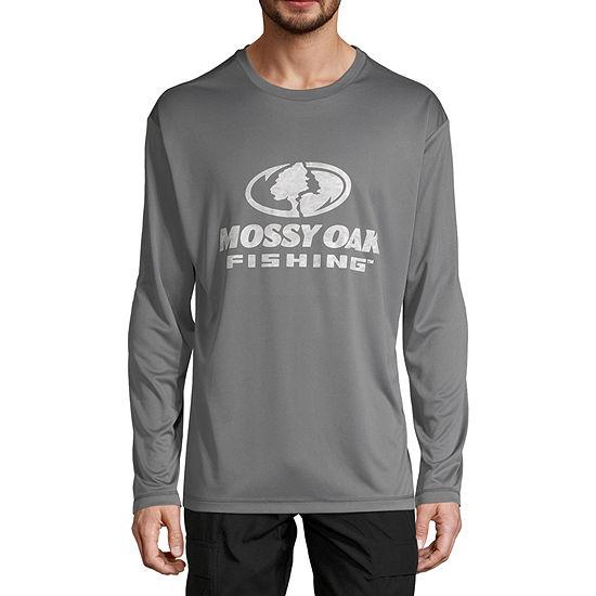 Mossy Oak Mens Crew Neck Long Sleeve T-Shirt