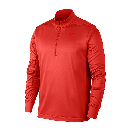 Nike Golf Mens Mock Neck Long Sleeve Quarter-Zip Pullover