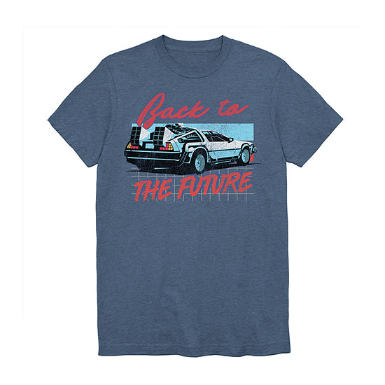 Back to the Future Grid Delorian Mens Crew Neck Short Sleeve T-Shirt-Big and Tall