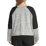 Flirtitude Juniors Plus Womens Crew Neck Long Sleeve Sweatshirt