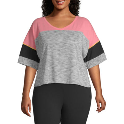 Flirtitude-Unisex Crew Neck Short Sleeve T-Shirt Juniors Plus