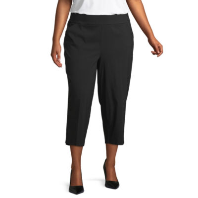 Worthington Mid Rise Cropped Pants Plus