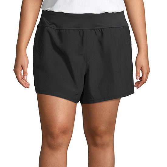 "Xersion Womens Mid Rise 5"" Running Short-Plus"
