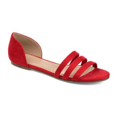 Journee Collection Womens Gildie Open Toe Slip-On Shoe
