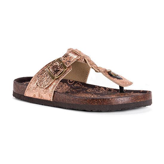 Muk Luks Womens Marsha Slingback Strap Flat Sandals