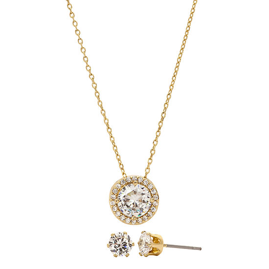 Sparkle Allure 3-pc. 14K Gold Over Brass Round Jewelry Set