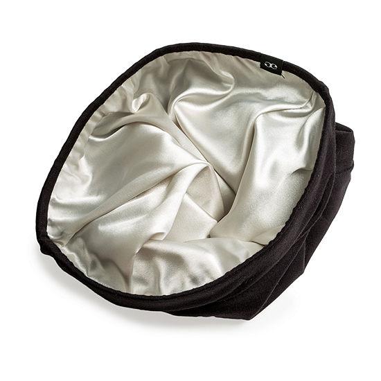 Grace Eleyae Satin-Lined Cap (Slap) Black Hair Bonnet - Size Medium