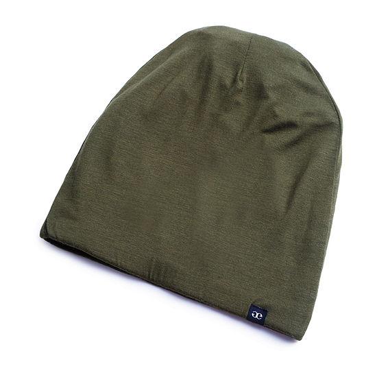 Grace Eleyae Satin-Lined Cap (Slap) Olive Hair Bonnet - Size Small