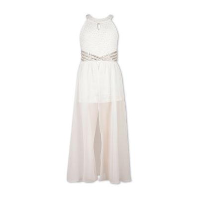 Speechless Embellished Sleeveless Maxi Dress - Big Kid Girls