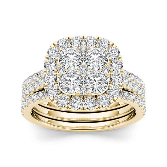 2 CT. T.W. Diamond 14K Yellow Gold Bridal Set