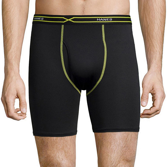 Hanes Men's X-Temp® Performance FreshIQ™ Mesh Boxer Brief 3-Pack
