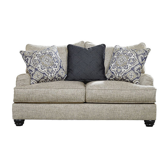 Signature Design by Ashley Rexville Collection Pad-Arm Loveseat