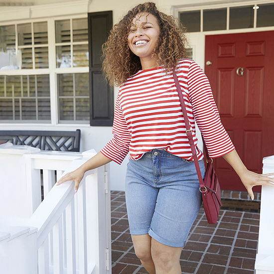 Spring Fashion: Striped Tee & Bermuda Shorts