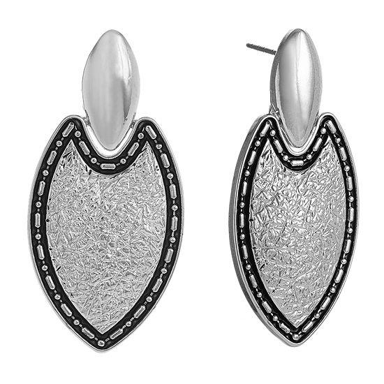 EL by Erica Lyons Silver Tone Drop Earrings