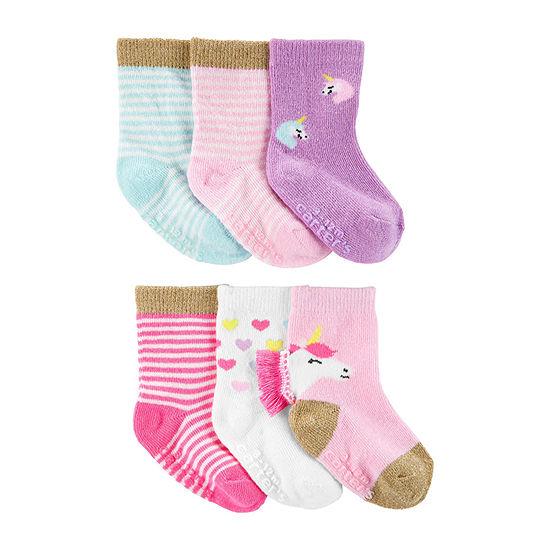 Carter's Baby Girls 6 Pair Crew Socks