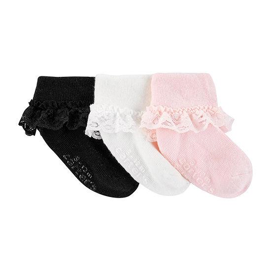 Carter's Baby Girls 3 Pair Crew Socks