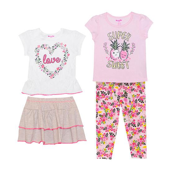 Nannette Baby Girls 4-pc. Skort Set