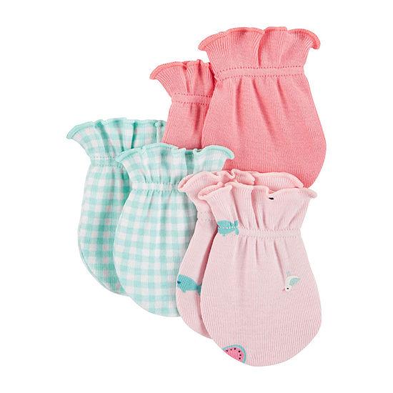 Carter's 0-3 Months Flamingo Girls Baby Mittens-Baby