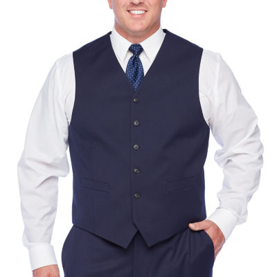 Stafford Super Suit Mens Classic Fit Suit Vest - Big and Tall