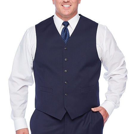 1920s Style Mens Vests Stafford Super Suit Mens Classic Fit Suit Jacket-Big and Tall 3x-large  Blue $37.49 AT vintagedancer.com