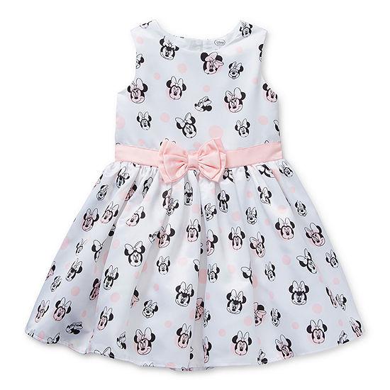 Disney Collection Little/Big Kid Girls Sleeveless Minnie Mouse Sundress