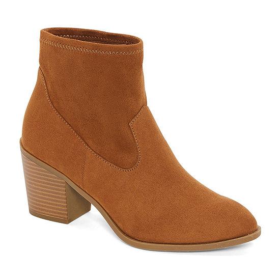 a.n.a Womens Block Heel Electra Booties