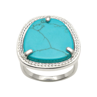 Abstract Genuine Restructured Turquoise Ring