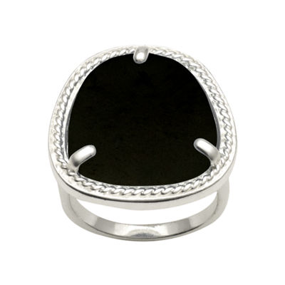Abstract Genuine Onyx Ring