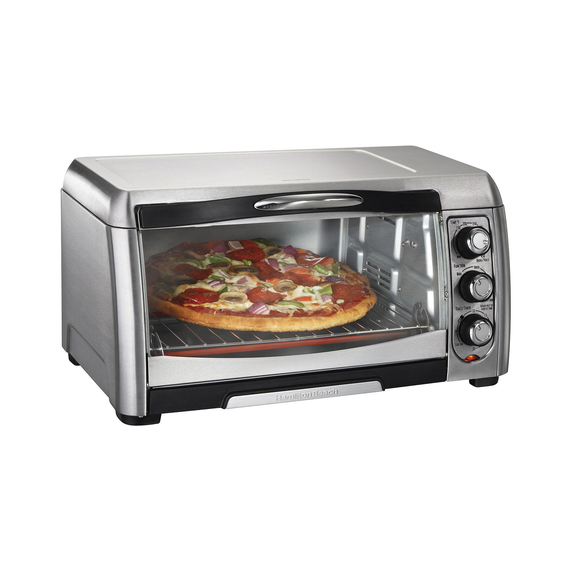Hamilton Beach 6-Slice Toaster Oven Broiler + Convection