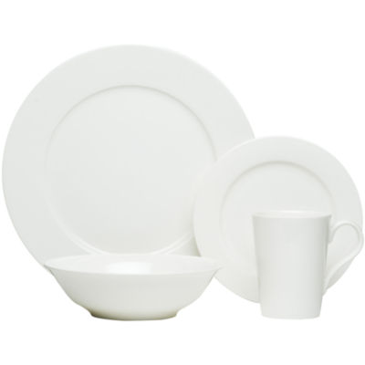 Red Vanilla Bone China 16-pc. Dinnerware Set