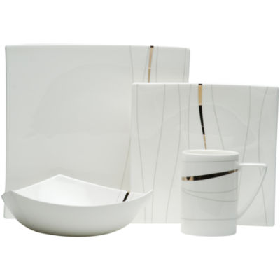 Red Vanilla Odett Platinum 4-pc. Bone China Place Setting