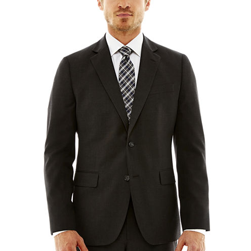 Stafford® Travel Charcoal Suit Jacket—Slim Fit