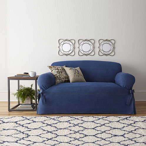 FIT® Authentic Denim Sofa Slipcover