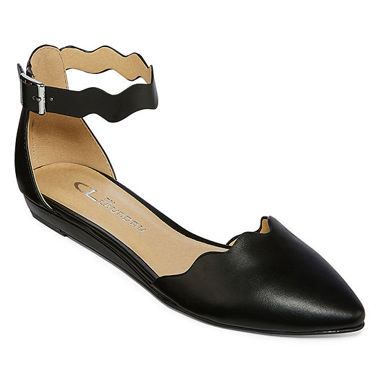 Cl By Laundry Womens Ballet Flats Buckle Pointed Toe