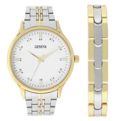 Geneva Mens Two Tone 2-pc. Watch Boxed Set-62201