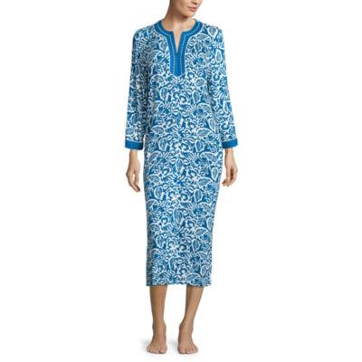 Jasmine Rose  Jersey Long Sleeve Pattern Nightshirt