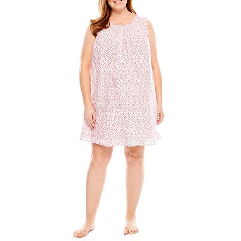Adonna Sleeveless Floral Nightgown-Plus