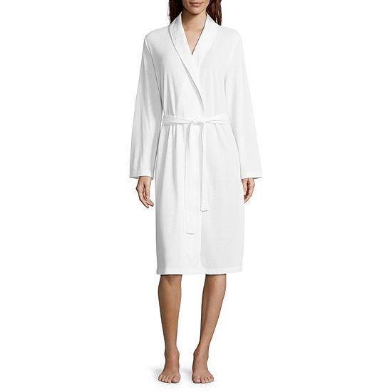 Adonna Long Sleeve Jacquard Wrap Robe