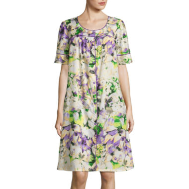 Adonna Poplin Short Sleeve Round Neck Nightgown