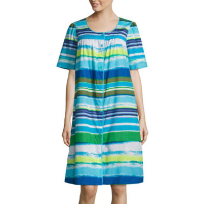 Adonna Poplin Short Sleeve Round Neck Nightgown